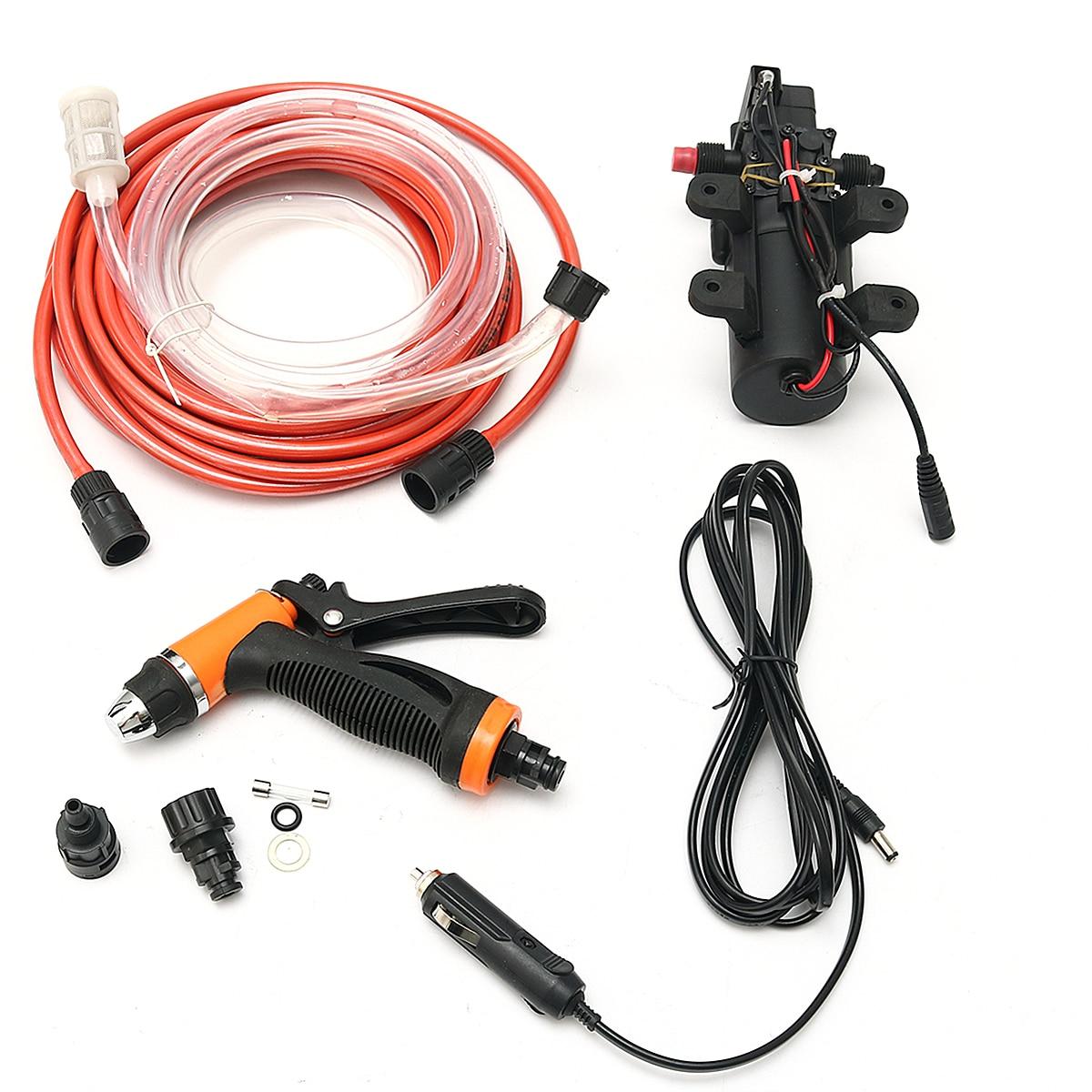 12V 100W 160PSI High Pressure Self priming Electric Car Wash Pump Portable Washing Machine Cigarette Lighter