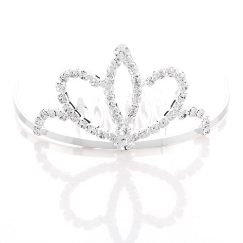 SAF-Silver Plated Rhinestone Hair Jewelry Tiara Bridal Jewelry Hair Arrangement Bride