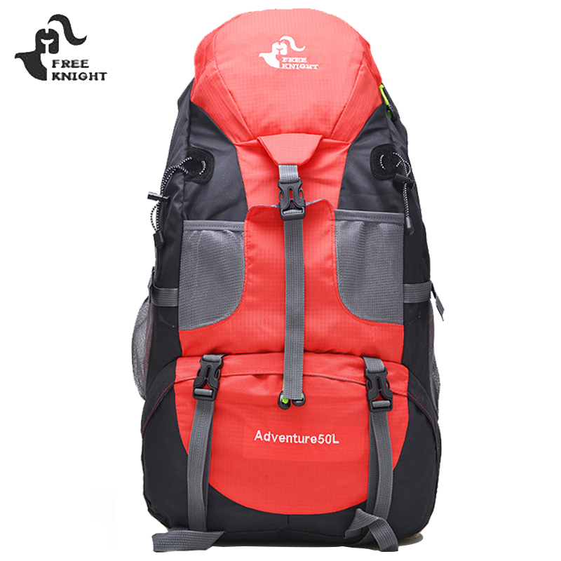 Limited Hot 50L Large Waterproof Climbing Hiking Backpack Rain Cover Bag Camping Mountaineering Backpack Sports Outdoor Bike Bag 75l waterproof climbing hiking backpack rain cover bag camping mountaineering backpack sport outdoor bike bag rucksack travel
