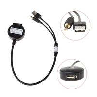 3 5mm USB Male To Female Car Audio Aux Adapter Cable For BMW Mini Cooper