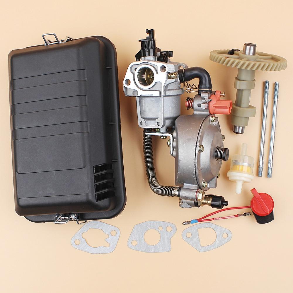 цена на Carburetor Cam Camshaft Air Filter Bolt Gasket Kit Fit HONDA GX160 GX200 GX 160 200 Chinese 168F 5.5/6.5HP Engine Generator