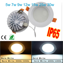 50pcs/lot Led Downlights 5W 7W 9W 12w 220V LED Ceiling Downlight 2835 Lamps Lamp Home Indoor Lighting Free shipping