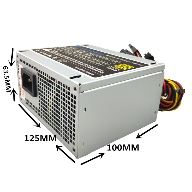 Купить с кэшбэком 300W PC Power Supply 300W SFX PSU For MINI Desktop Chassis 300W SFX Power Supply SFX 12V 3.21 3x SATA 80mm FAN PFC