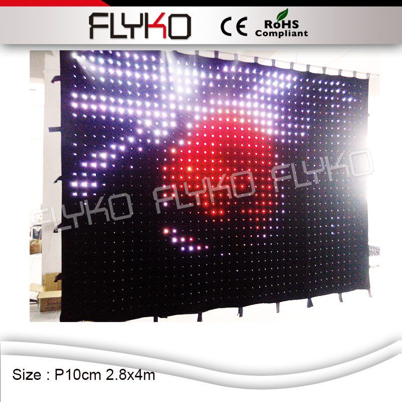 FLYKO P10 2,8*4 м профессиональный свет светодио дный видеоэкран этапе фон