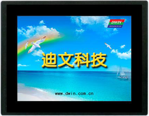 DMT10768C080_15WT 8-inch serial screen touch screen man-machine interface with control panel with a shell 8 4 8 inch industrial control lcd monitor vga dvi interface metal shell open frame non touch screen 800 600 4 3
