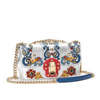 Супер Роскошная брендовая сумка на плечо с цепочкой 100% женские сумки из натуральной кожи винтажные барокко Европейский стиль украшение из