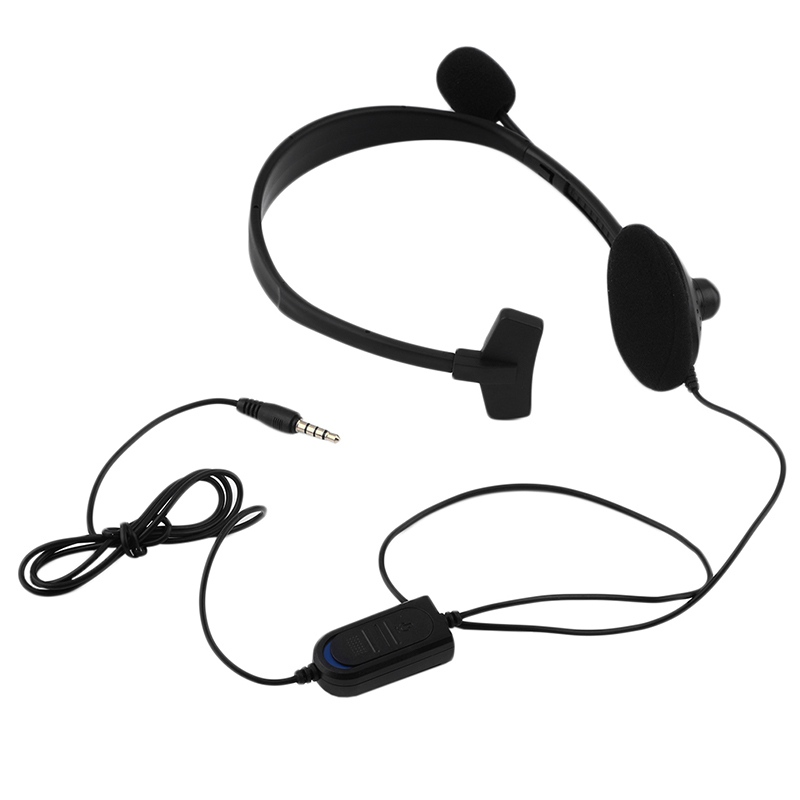 3.5mm Wired Earphone Gaming Headphones Single Side Game Headset Noise Cancelling with Microphone for PS4 Computer Game