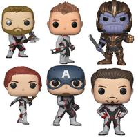 FUNKO POP Marvel Avengers 4 Hulk Black Widow Raytheon Vinyl Doll Action Figures Collectible Model Toy For Gift