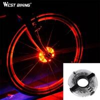 WEST BIKING Cycling Hubs Lights Front Rear Bike Light IP55 Waterproof Spoke Decoration Warning LED Wheel Lamp Bicycle Hub Light|Bicycle Light|Sports & Entertainment -
