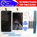 Bluboo Picasso Display LCD + Digitador Da Tela de Toque Original de 100% Testado LCD Painel de Vidro da Tela Para Picasso + ferramentas + adesivo