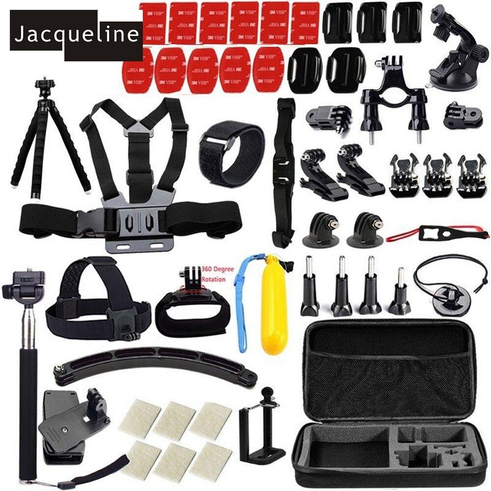 Jacqueline pour Go pro étui de voyage sac pôle pour Gopro hero HD 6 5 4 Session/3/2 pour SJCAM SJ4000 SJ5000 SJ6000 pour EKEN