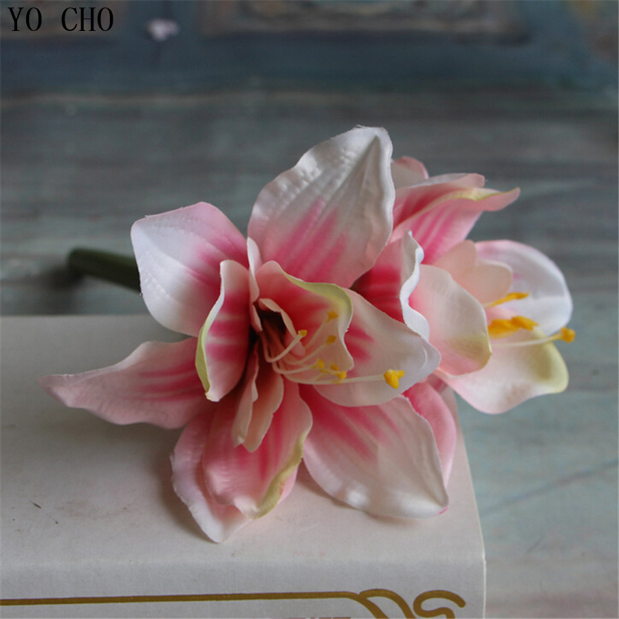 Orchid Artificial Flowers For Wedding Decor Real Touch Fake Silk