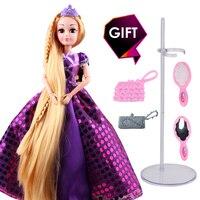 New Fashion Princess Doll Rapunzel Long Hair 3D Realistic Eyes Best Birthday Christmas Gift For Girl