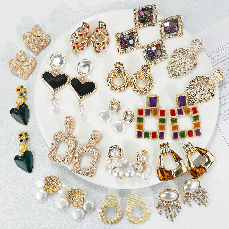 AENSOA ZA nueva moda geométrica larga cuelga los pendientes de gota 2019 Bohemia hecho a mano grandes pendientes para mujer regalo de joyería al por mayor
