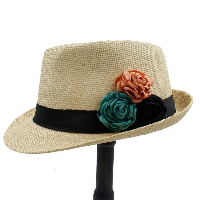 Niños niña boater Beach Sol sombrero para niños verano paja toquilla chapeu  femenino Fedora playa Sol 74652dbecf5