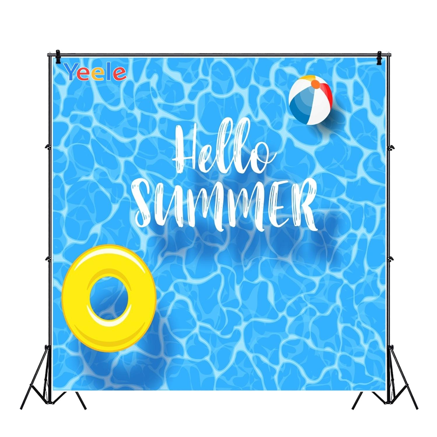 Yeele Swimming Pool Ring Ball Party Summer Holiday Photography Backgrounds Customized Photographic Backdrops for Photo Studio in Background from Consumer Electronics