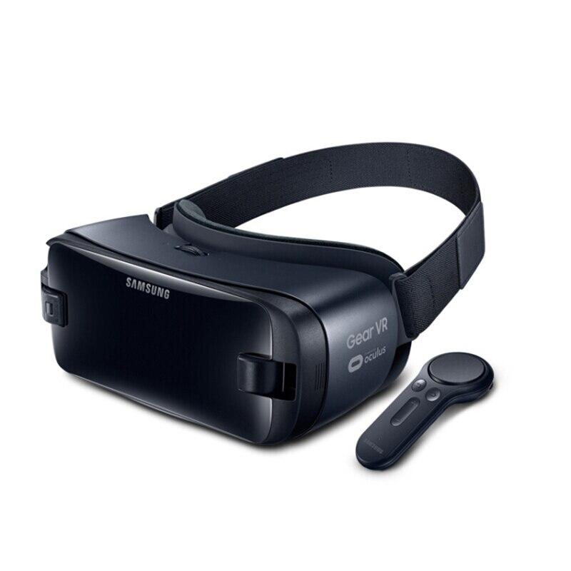 A engrenagem vr 5.0 3d óculos vr 3d caixa para samsung galaxy s9 s9plus s8 + note7 nota 5 s7 etc smartphones com controlador de bluetooth