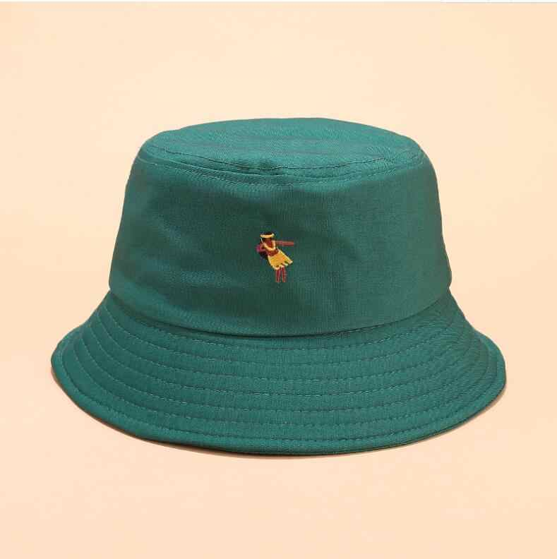 2019 Creative Embroidery Bucket Hat Unisex Foldable Rose Bob Cap Hip Hop Gorros Men Summer Caps Panama Fishing Bucket Hat