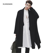Spring Autumn Men Long Knitted Cardigan Coat Oversize Japan Style Knitwear Male Loose Sweater Jacket