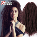 Hot Sale 18'' 100g Afro Kinky Curly Twist Hair Crochet Braids Marley Braid Hair Extension Senegalese Twist Crochet Braiding Hair