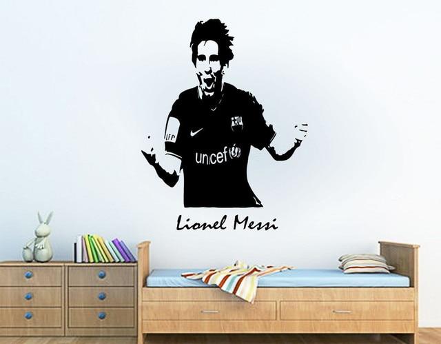 Personalised Lionel Messi Barcelona Football Sport Vinyl Wall Art