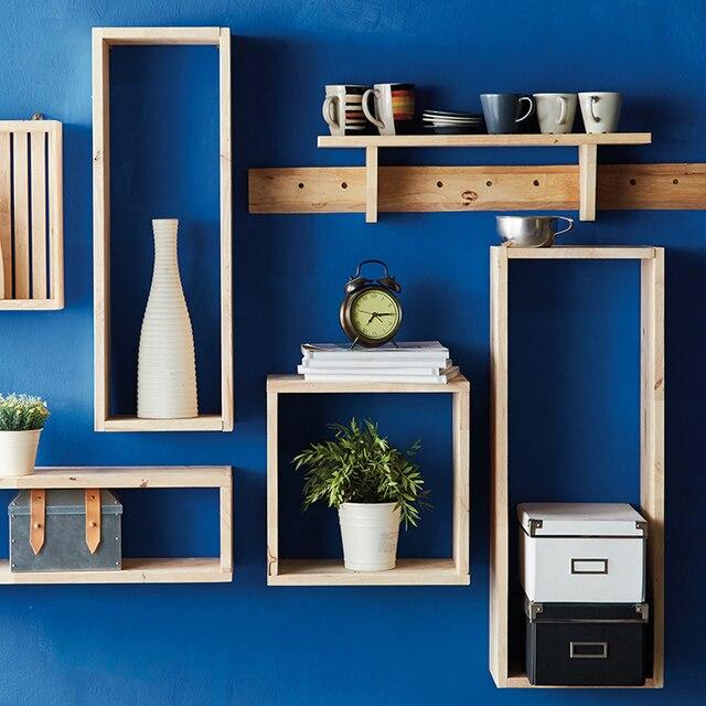 Collalily Nordique étagère Murale De Stockage Magazine plateau porte ...