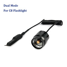 Dual Mode Remote Control Pressure Switch for C8 Flashlight Tailcap Tactical Switch for C8 LED Flashlight Torch Tail Switch