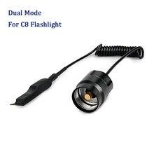 Interrupteur de pression à télécommande double Mode pour lampe de poche C8, bouton arrière de torche