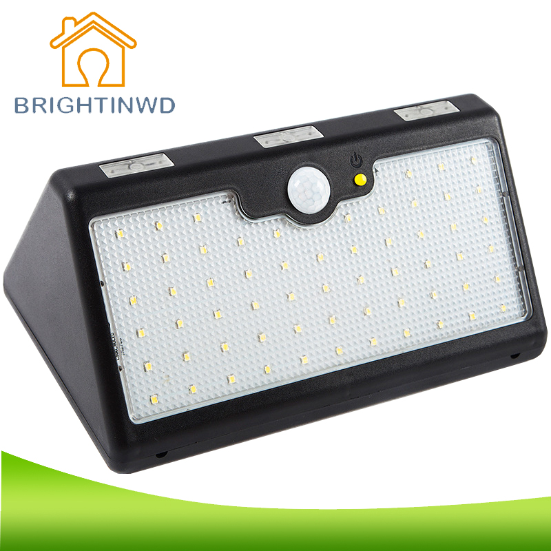 60 LED Super Bright 1350 LM 9600MAH, Equivalent To 100W Incandescent Lamp, Body Induction Outdoor IP 65 Waterproof Solar Light super bright outdoor waterproof human body induction led solar energy wall lamp