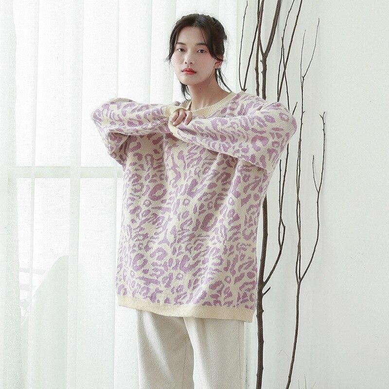 Hiver Lâche See Remplacement Style Automne pourpre Mohair Femmes Top Chart Et Coréenne 2018 Version Nouveau Chandail De Blouse Motif 602 Un aUIxq7q