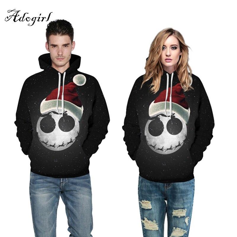 2017 Fashion Halloween Sweatshirts Unisex Men Women 3d Hoodies Print Earth Skull Space Galaxy Thin Hooded Hoodies Pullovers
