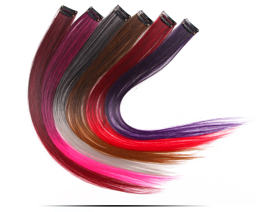 HTB1mPRsX4HBK1JjSZFvq6yKtXXa6 - AliLeader Made 57 Colors 50CM Single Clip In One Piece Hair Extensions Synthetic Long Straight Ombre Grey Red Rainbow Hair Piece