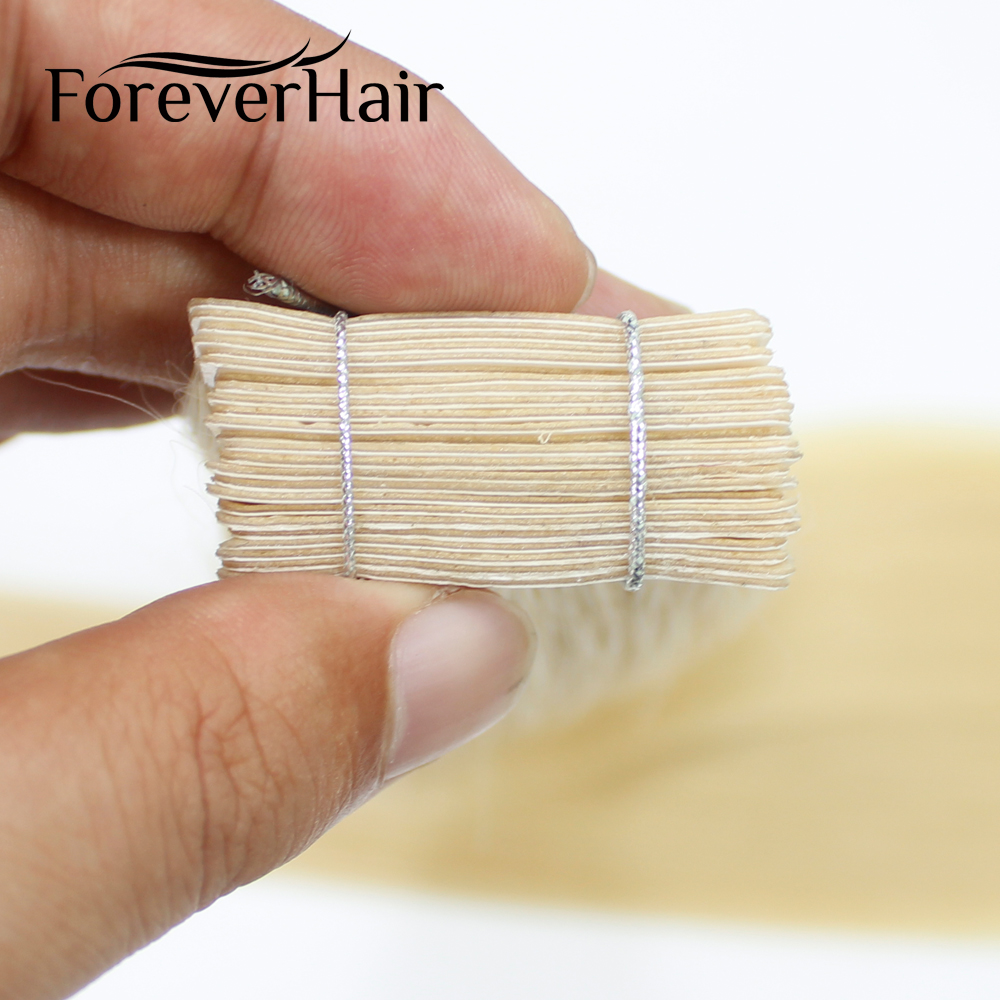 FOREVER HAIR Skin Weft Adhesive Remy Tape In Hair Extensions Double Side 16 18 20 Full Cuticle PU Tape 2g/pc Dark Light Color