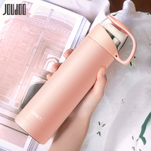 JOUDOO 500ML Cute Coffee Thermos Bottle With Lid Portable Stainless Steel Vacuum Flasks For Tea Brief Water Thermoses Girl 35