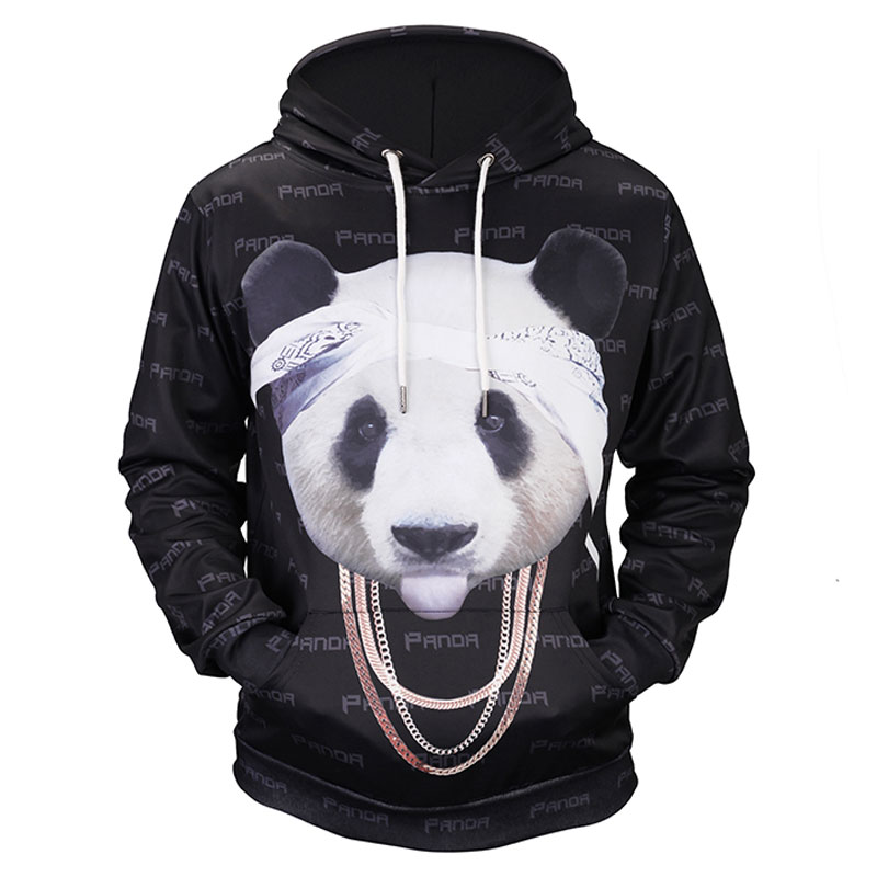 Headbook New Funny Fashion Hoodies Women/Men 3d Sweatshirts Print Lovely Chain Panda Graphic Hooded Hoodies Hoody 17090205