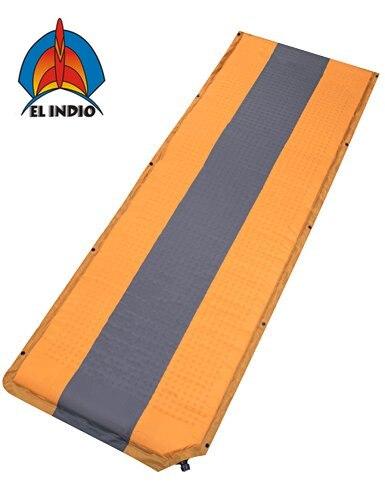 El Indio Self Inflating Sleeping Pad Air Mattress For Camping Hiking Backpacking Or Cot Yellow Color Camping Mat Aliexpress