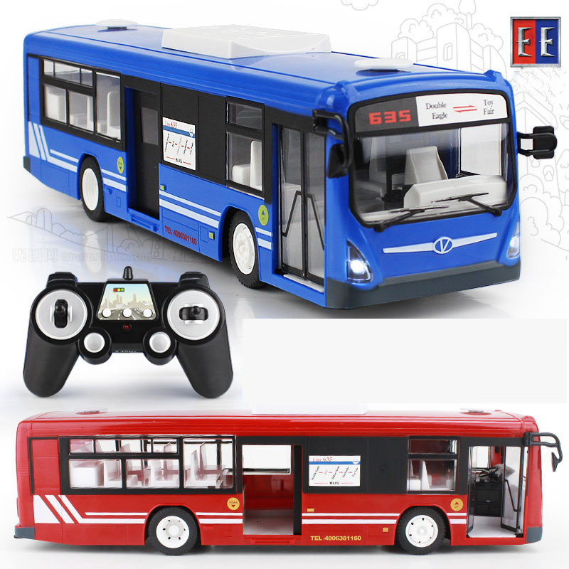 2017 New 2 4G Remote Control Bus font b Car b font Charging Electric Open Door