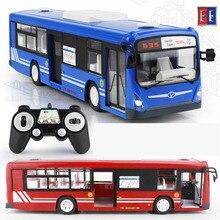 2017 nuevo 2.4g bus de control remoto de carga eléctrica de la puerta abierta del coche modelo del coche del rc toys para niños regalos rc16 (2)