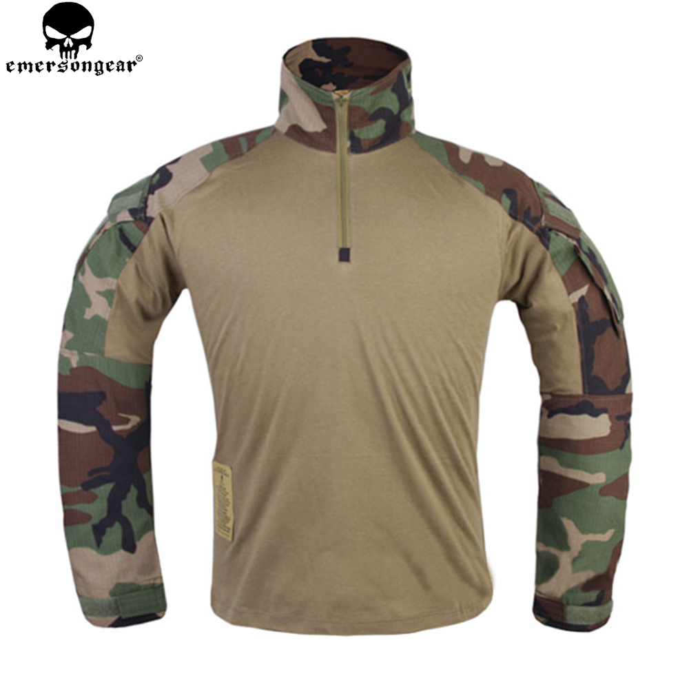 Image 4 - EMERSONGEAR Combat Pants Uniform Tactical Pants with Knee Pads Military Army Multicam Pants Shirt Hunting Clothes WoodlandHunting Ghillie Suits   -