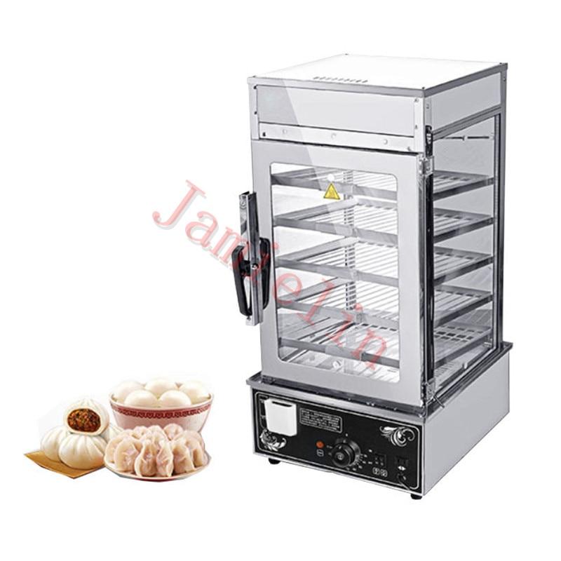 JamieLin Commercial stainless steel Electric Bun Steamer Bread Food Warmer Cabinet Stuffed Bun Steam Machine - 5