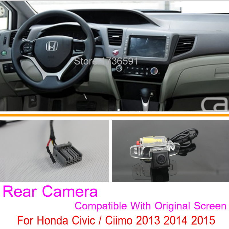Lyudmila For Honda Civic / Ciimo 9th Generation 2012~2014 Original Screen Compatible / Car Rear View Back Up Reverse Camera Sets times newspaper reading course of intermediate chinese 1 комплект из 2 книг