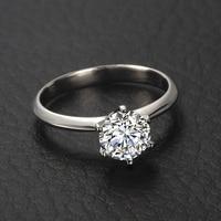 18 К золото ГИА кольцо с бриллиантом для Для женщин 6 коготь Пасьянс 0.50ct натуральный GIA со стразами ручной работы ювелирные изделия обручальн