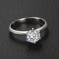 18K Gold GIA Diamond Ring for Women 6 Claw Solitaire 0.50ct Natural GIA Diamond Handmade Jewelry Wedding Band Engagement Ring