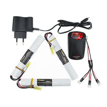 EU plug balance charger 1to3cable 3pcs 7.4V 1500MAH 25C XPower RC Lipo battery AKKU Mini Airsoft Gun Battery RC model Wholesale
