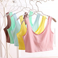 10pcswomen summer cotton top tanks 2015 brand loose solid color short sleeve top tank vest top quality wholesale half vest16