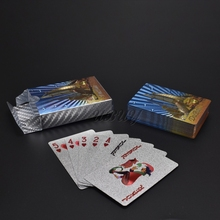 UB Novelty Dubai Design Silver Foil Playing Cards Deck Poker Game Waterproof