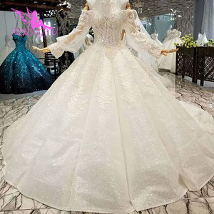 Image 4 - AIJINGYU свадебное платье и роскошные платья дешевые рядом со мной кружева индийские красивые платья свадебное платье принцессы