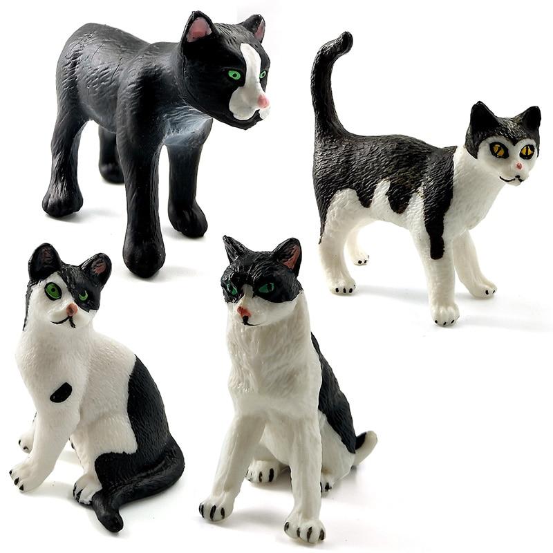 Simulación de granja mini modelo animal del gato pequeñas figuras - Figuritas de juguete - foto 3