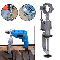 Universal Clamp On Bench Vises Holder Mini Electric Drill Stand Make The Grinder Flat 360 Rotating