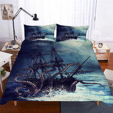 Bedding Set 3D Printed Duvet Cover Bed Octopus Home Textiles for Adults Lifelike Bedclothes with Pillowcase #ZY01